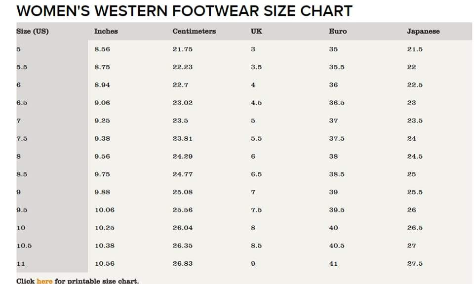 *Ariat Styles and Boot Fit Guide*