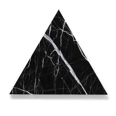 Black Spanish Marquina Marble TRIANGLE Board Trivet 30cm - Australian Made Decor, Other Home Décor- eStone Direct
