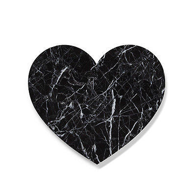 Black Marble Love Heart Trivet Board 30cm- Wedding, bomboniere, gift, Other Home Décor- eStone Direct