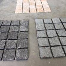 Load image into Gallery viewer, Black Flamed Granite Cobbles On Mesh 500x500x20mm, Paving- eStone Direct