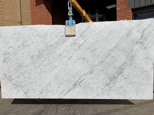 Carrara Marble Slab - Ready for fabrication, Hearth- eStone Direct