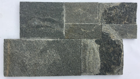 Gun Metal Grey Z-Panel Stacked Stone Wall Cladding, Walling- eStone Direct