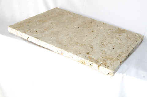 Classic Ivory Travertine Coping - Tumbled and Unfilled, Coping- eStone Direct