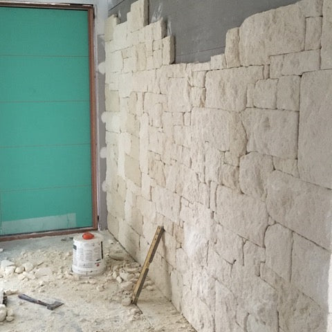 Australian Shell Limestone Rubble Cladding