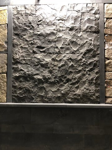 Natural Split Rockface Bluestone Crazy Wall Cladding, Walling- eStone Direct