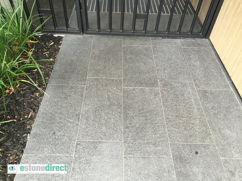 Black Granite Pavers- Flamed($/SQM), Paving- eStone Direct