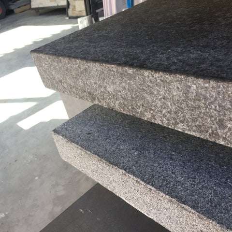 Black Flamed Granite Drop Edge  ($/UNIT), Coping- eStone Direct