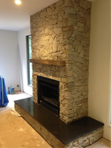 Custom Stone Fireplace Hearths and Mantles