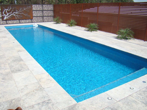 Tumbled Unfilled Silver Travertine - Pool Coping Tiles Pavers ($/UNIT)