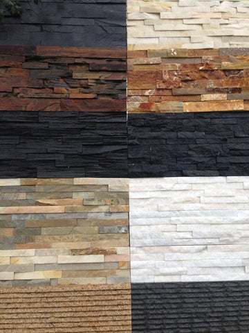 Charcoal Stackstone Tiles and Corners PER/M2, Walling- eStone Direct