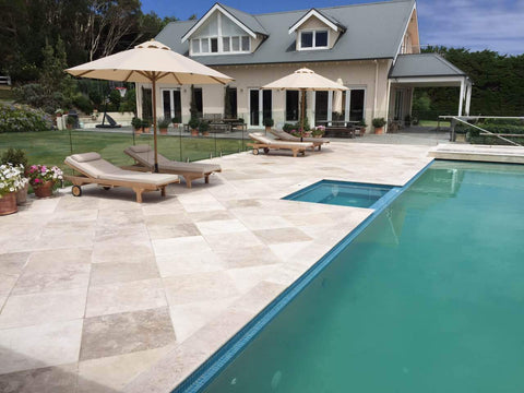 Classic Ivory Travertine - Pool Coping  ($/UNIT), Coping- eStone Direct