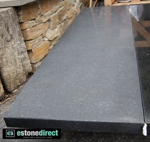 Granite Hearth - Black Honed 1500x400x40mm, Hearth- eStone Direct