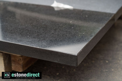 Granite Hearth - Black Polished 1500x400x40mm, Hearth- eStone Direct