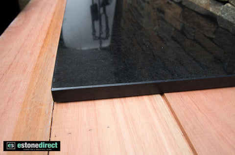 Granite Hearth - Black Polished 1800x500x20mm, Hearth- eStone Direct