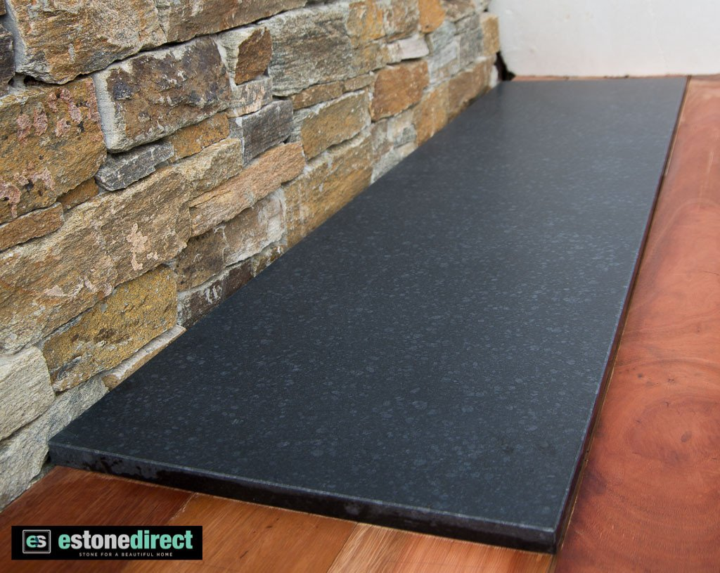 Granite Hearth Black Honed 1500x400x20mm Estone Direct