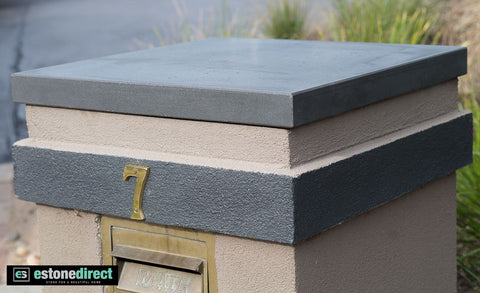 Solid Bluestone Pier Cap - Honed 510x510x45mm, Hearth- eStone Direct