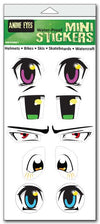 "'Anime' mini stickers - Set of 5 - Size: 1"" x 3"" each"