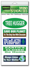 "'Environmental' mini stickers - Set of 5 -Size: 1"" x 3"" each"
