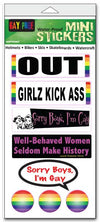 "'Pride' mini stickers - set of 8 - Size 1"" x 3"" each"