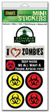 "'Zombie' mini stickers - Set of 7 - Size 1"" x 3"" each"
