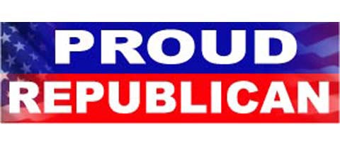 "Proud Republican - 3"" x 10"""