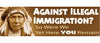 "Against Illegal Immigration? So were we, yet here YOU remain - 3"" x 10"""
