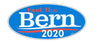 "'Feel The Bern' - Bernie Sanders  2020. oval sticker - 3.5"" x 7"""