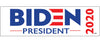"Biden for President 2020 (White) 3"" x 10"""