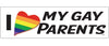 "I heart my gay parents - 3"" x 10"""