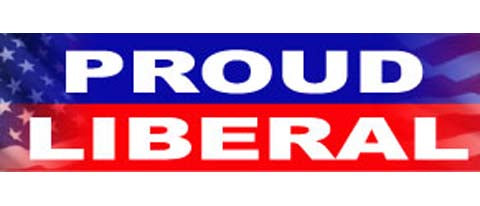 "Proud Liberal - 3"" x 10"""