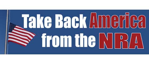 "Take back America from the NRA - 3"" x 10"""