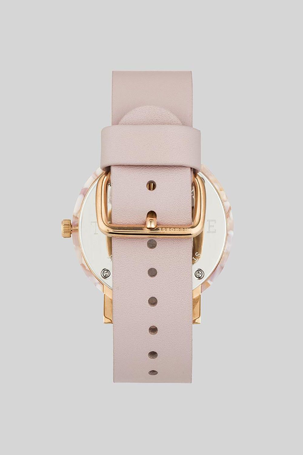 PINK NOUGAT SHELL WHITE DIAL - BABY PINK LEATHER