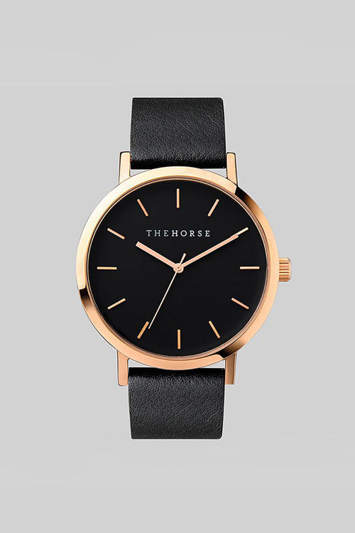 THE ORIGINAL - ROSE GOLD, BLACK DIAL, BLACK LEATHER