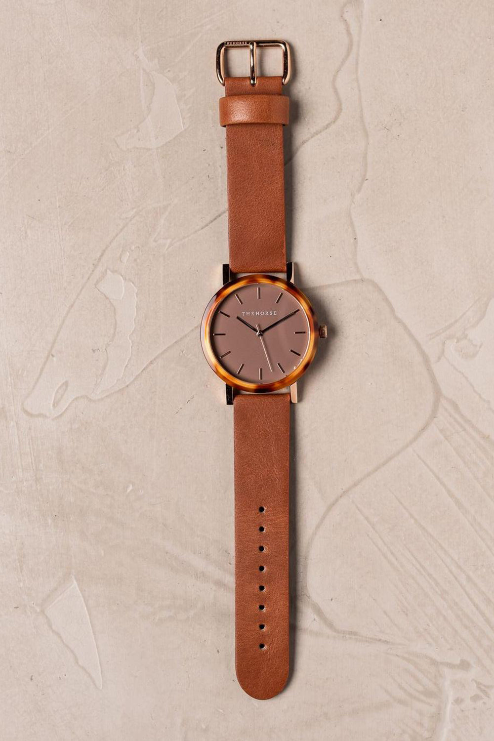 CARAMEL TREACLE CASE - DARK CARAMEL DIAL - ROSE GOLD INDEXING - TAN LEATHER