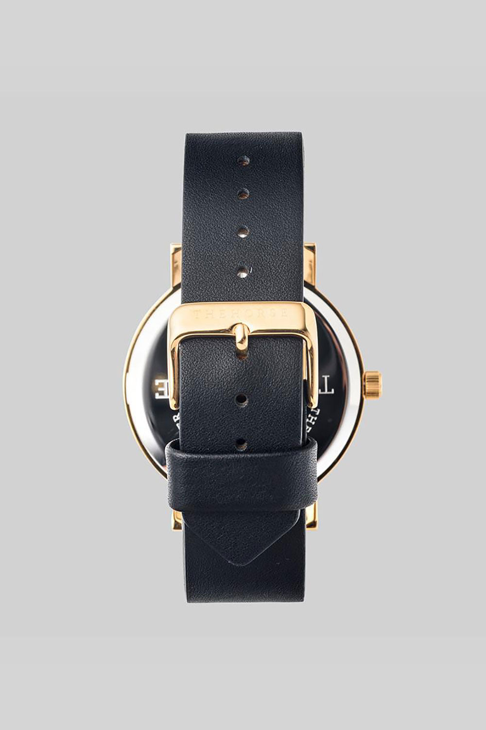 THE ORIGINAL - POLISHED GOLD, WHITE DIAL, BLACK LEATHER