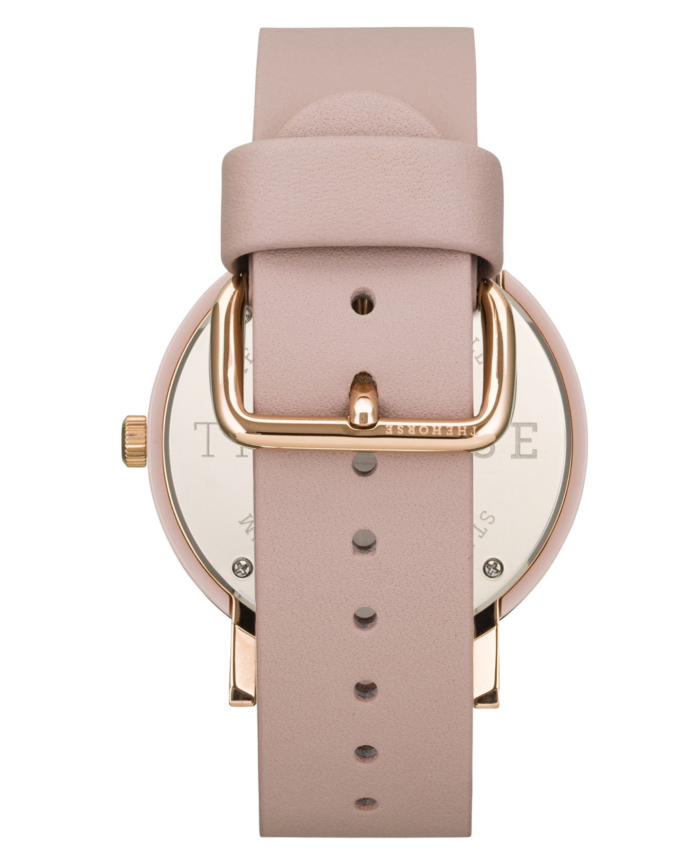 TORTOISE SHELL CASE - WHITE DIAL - ROSE GOLD INDEXING - BLUSH LEATHER