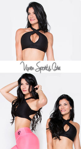"""Vixen"" Sports Bra - Black / White"