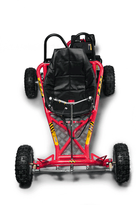 Go Karts Australia Red Go Kart top view