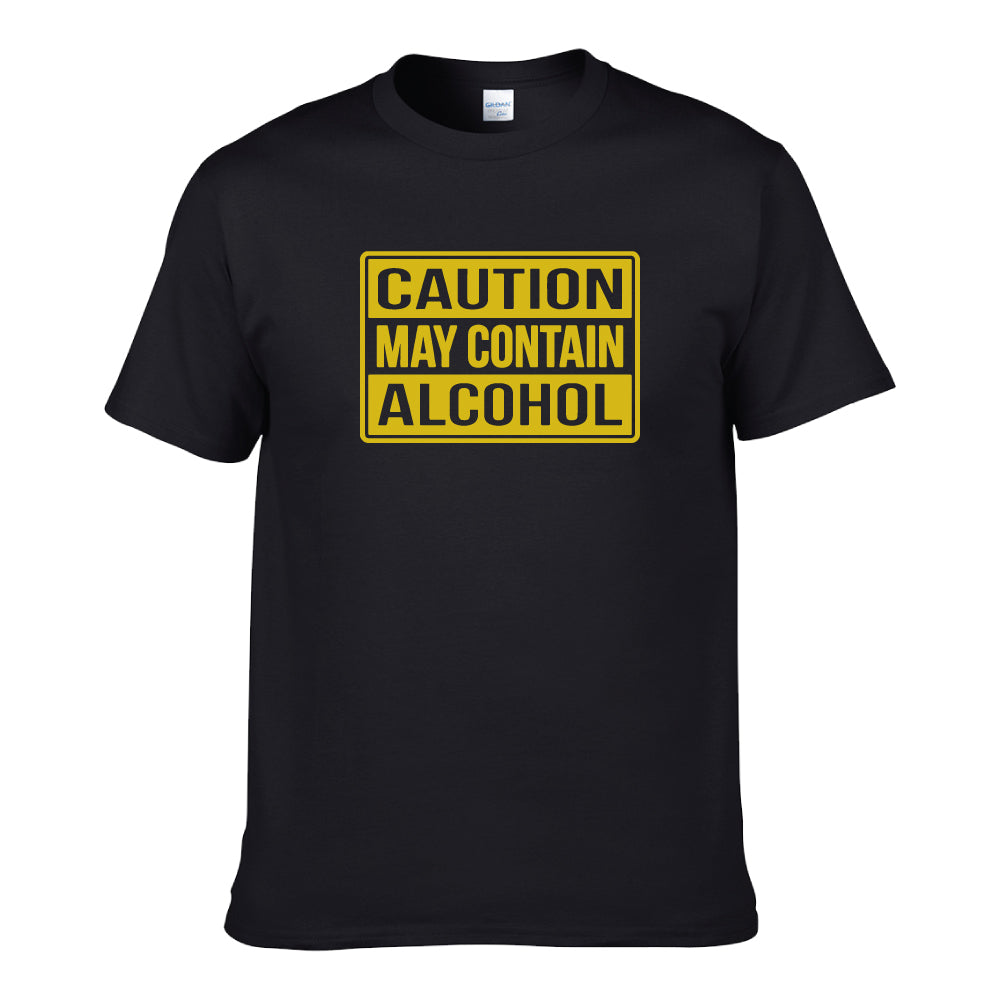 UT CAUTION MAY CONTAIN ALCOHOL Premium Slogan T-Shirt