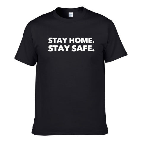 UT STAY HOME STAY SAFE Premium Slogan T-Shirt