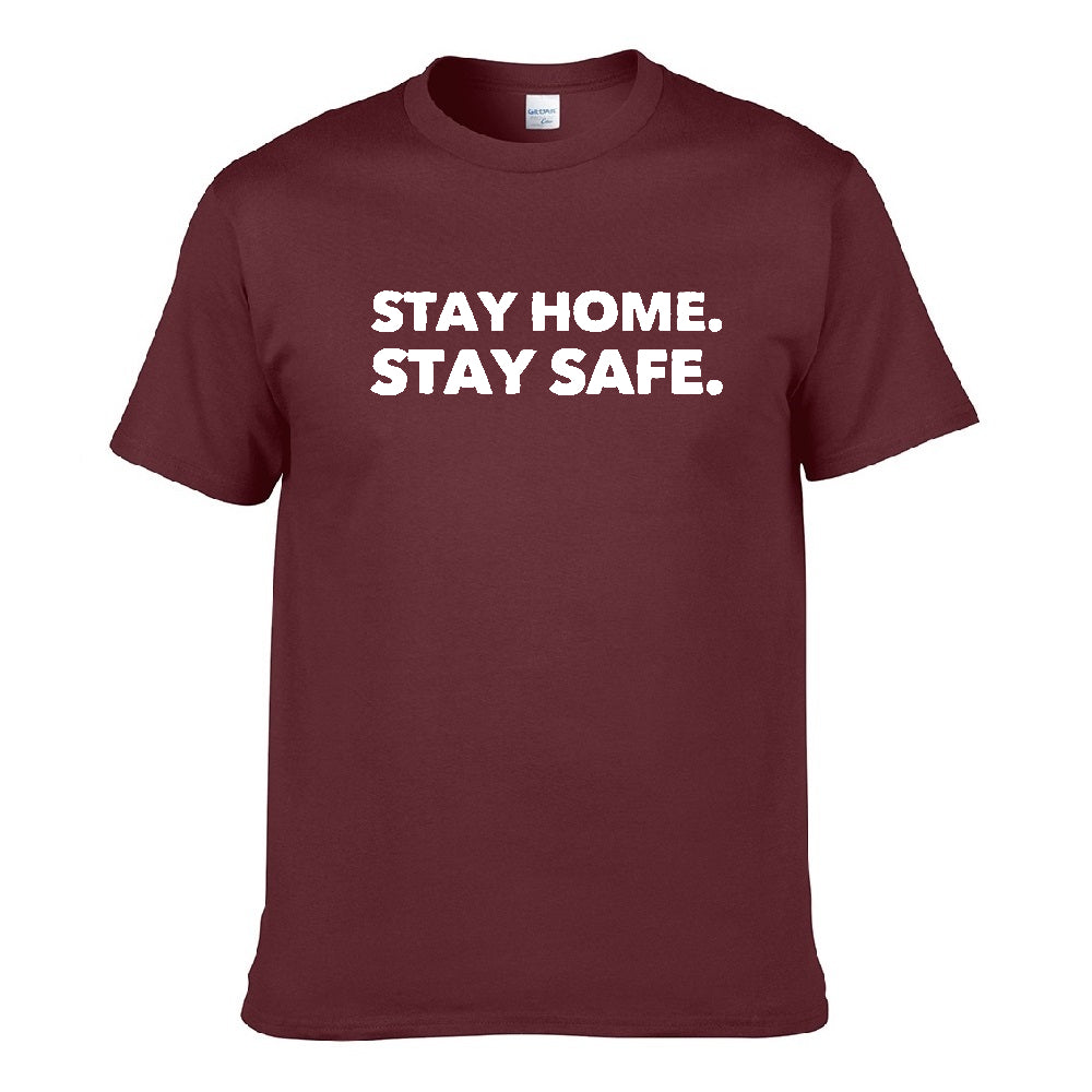 UT STAY HOME STAY SAFE Premium Slogan MCO T-Shirt