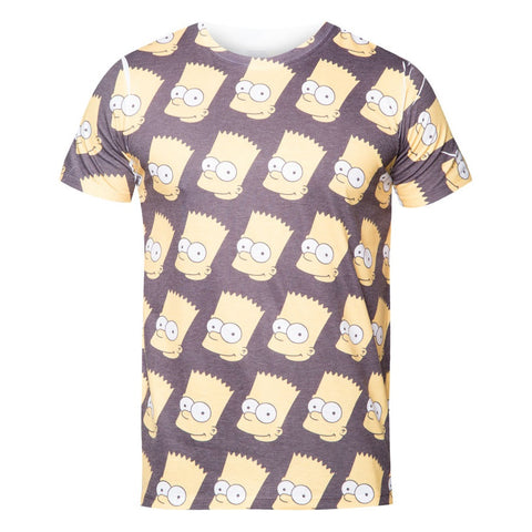 The Simpsons All-Over Bart Head T-Shirt