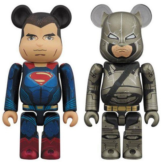 BEARBRICK 100% Batman v Superman Dawn of Justice Set of 2