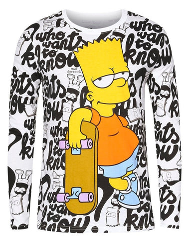 The Simpsons Bart Skateboard Sweater