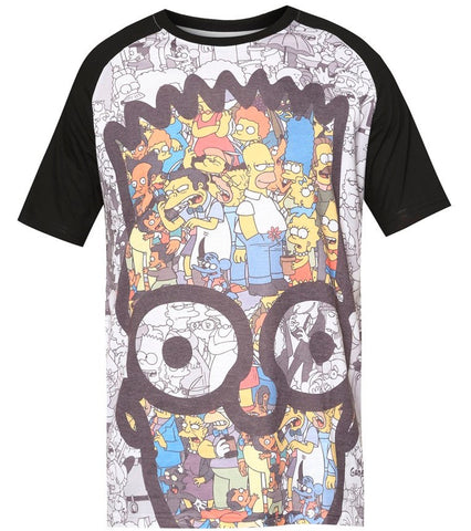The Simpsons Colorful Bart Head T-Shirt