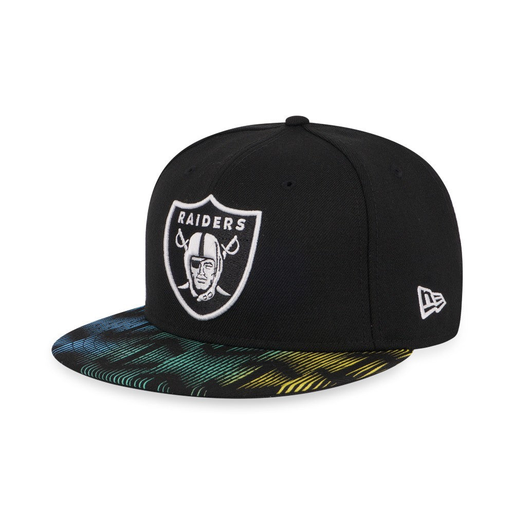 NFL Oakland Raiders Digital Wave New Era 59Fifty Fitted Cap