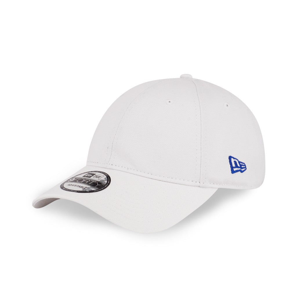 New Era Brand Languid Blank WHITE 9Forty Strapback Cap – urban TEE e7cefc7b678
