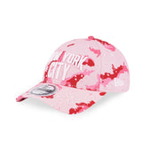 New Era Brand Colour Camo New York City Pink 9Forty Strapback Cap
