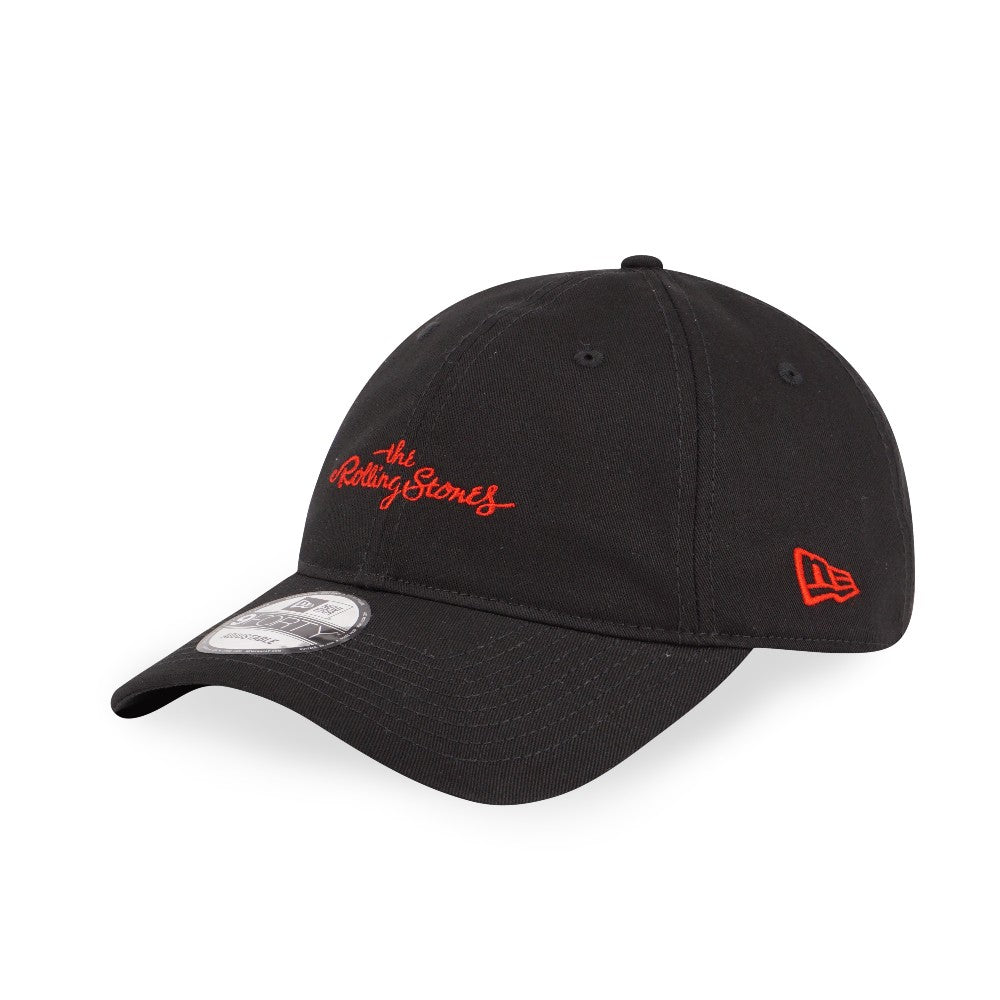 The Rolling Stones Script Logo New Era 9Forty Strapback Cap