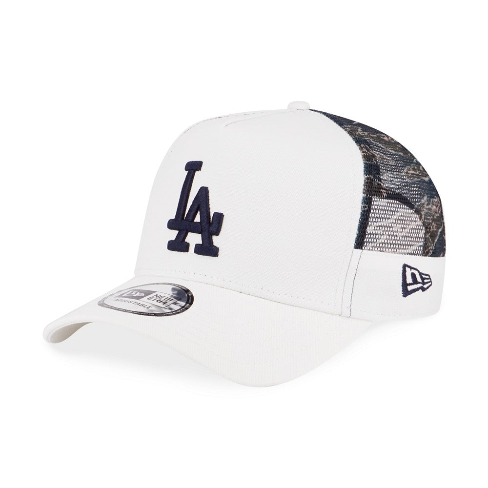 MLB Los Angeles Dodgers Tiger Camo Trucker New Era 9Forty Strapback Cap
